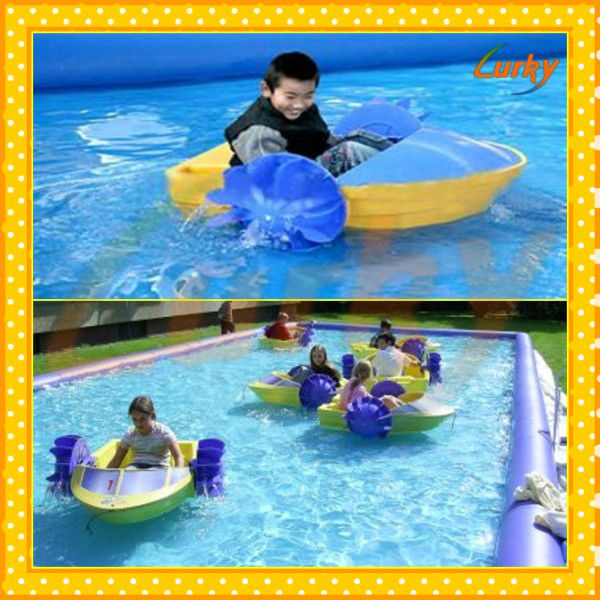Amusement Park Rides Hand Paddle Boats For Kids And Adults