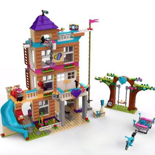 New 01063 Girls Series Toys 808Pcs The Friendship House Set Building Blocks Bricks toys Compatible with lego city Friends 41340 808pcs diy new girls series the friendship house set building blocks bricks friends toys for children compatible legoingly 41340