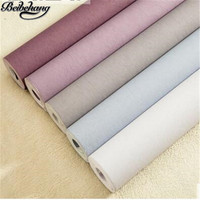 Beibehang Purple Nonwovens Wallpaper Plain Silk Simple Modern Solid Living Room Warmthade Stylish Wallpapers Papel De