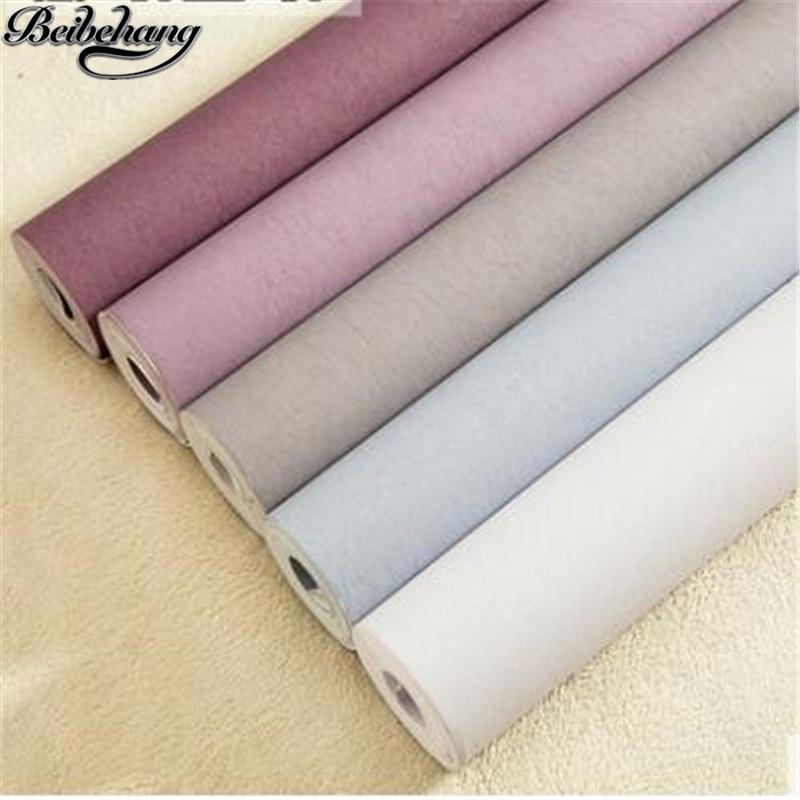 Beibehang violet Nonwovens papier peint plaine soie Simple moderne solide salon Warmthade élégant papiers peints papel de parede
