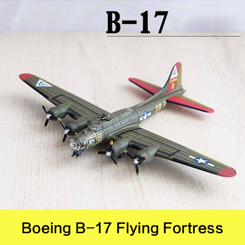 Military Alloy Airplane Model Bombing Plane Boeing B 17 Flying Fortress Second World War Flighter Diecast Scale Model Toys 1:200
