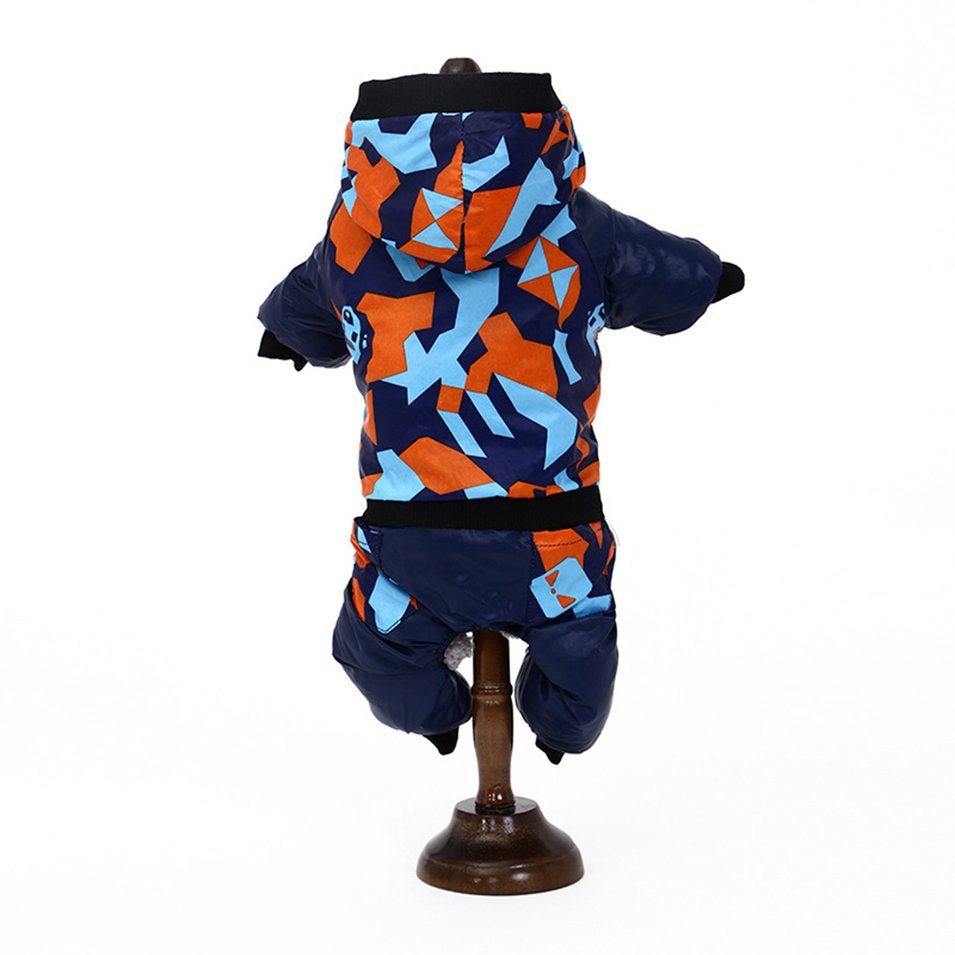 Dog Jumpsuit Warm Casual Pet Hooded Pajamas Puppy Cat Clothes Pets Apparel For Small Dogs Pet Accessories Camouflage Style