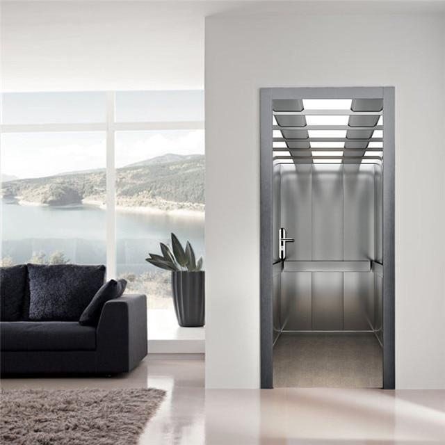 Funlife imitação 3d elevador criativo adesivo de parede diy sala ...