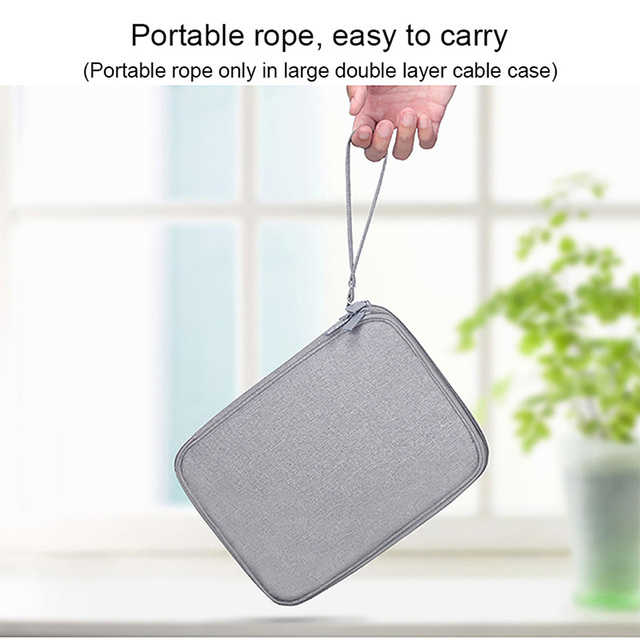Dropshipping Universal Electronics Accessories Organizer/Travel Accessories Bag for Cables, Memory Cards, Flash Hard Drive, iPad