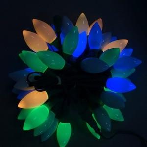 Image 2 - 50 nodes 주소 지정 가능 rgb dc12v ws2811 led 크리스마스 픽셀 문자열 빛, 4 인치 (10 cm) 와이어 간격, 모든 녹색 와이어, ip68, 유백색 c9