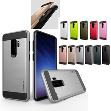 Luxury Dual Hybrid Shockproof Brushed Case For Samsung GALAXY S9 S9+ Plus Rubber Hard Phone Back Cover Skin Shell