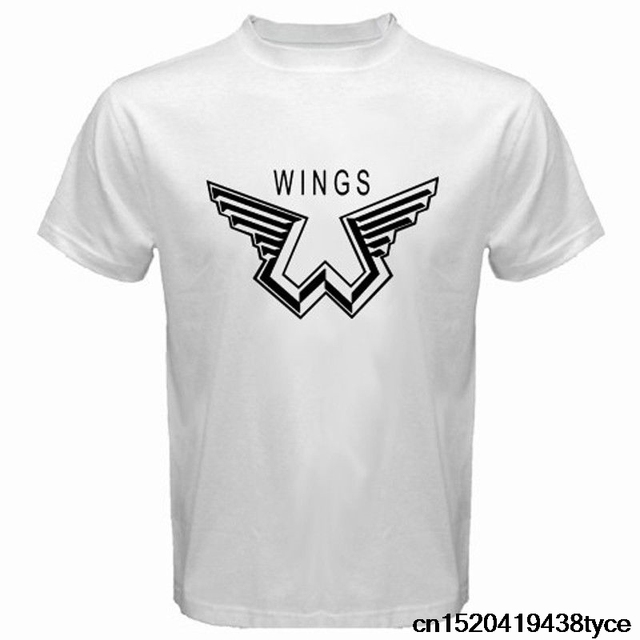 Jzecco Shirts Homme Novelty T Shirt Men New Paul Mccartney Wings Logo The Beatles MenS