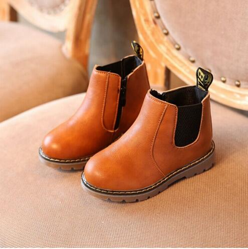 2017 cool Rome Kids Autumn Baby Boys Oxford Shoes For Children Dress Boots Girls Fashion Martin Boots Toddler PU Ieather Boots