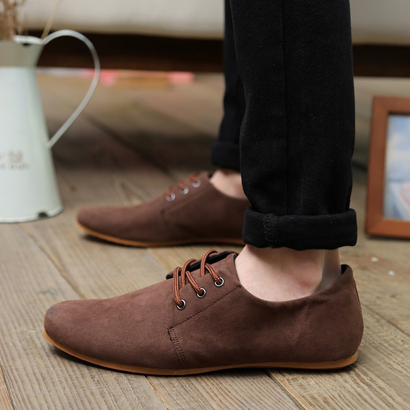New Fashion Men Sneakers Driving Shoe Male Breathable Casual Boat Shoes Men Single Loafers Men #6003Oliver