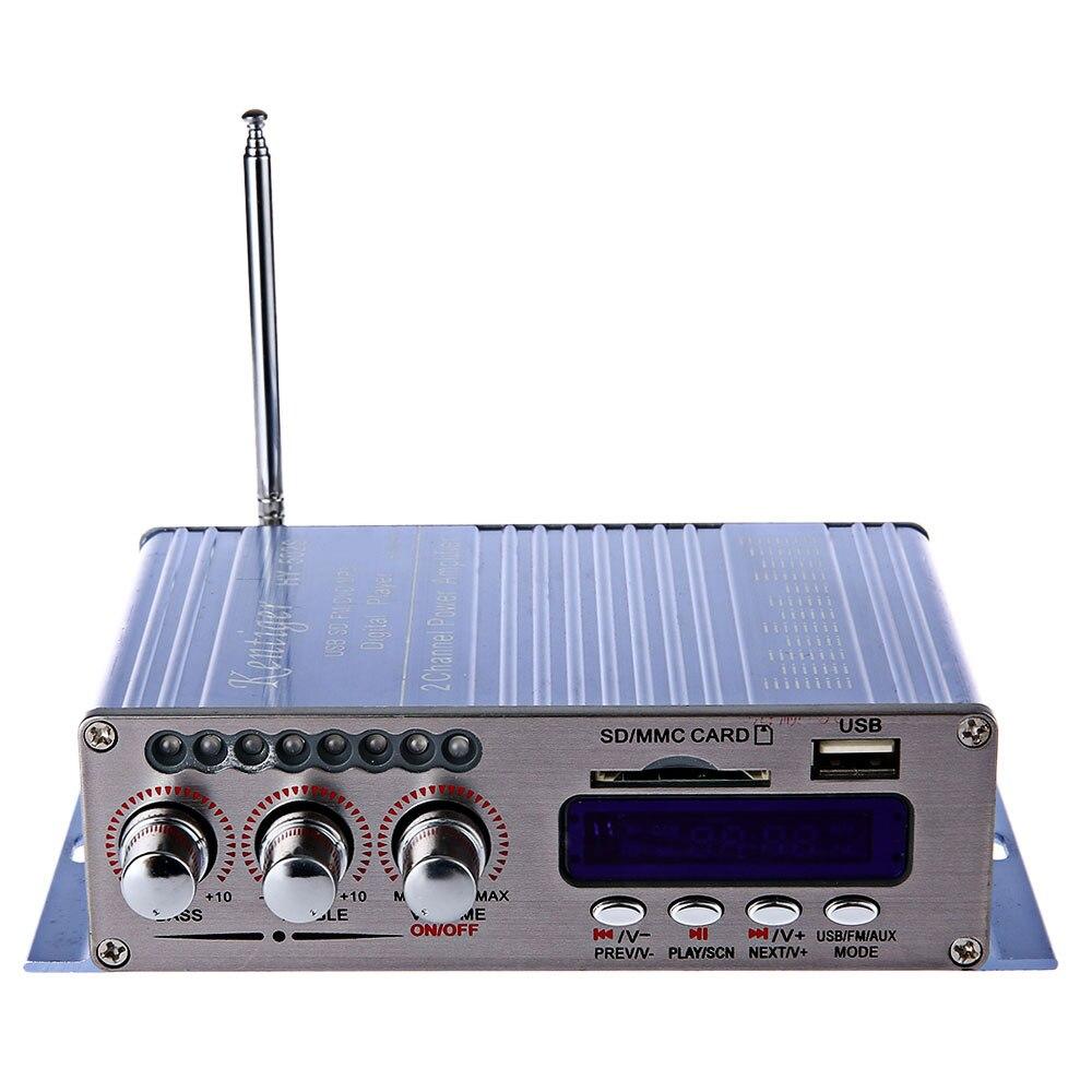 HY-502 S Mini Bluetooth HiFi 12 V Amplificatore Auto Senza Fili Uscita Audio Stereo Power Amplifier FM Musica AUX con Telecomando Controller