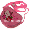 Hello Kitty  Pink Color Messenger Bag /Apple Shape Shoulder Bag+Free Shipping