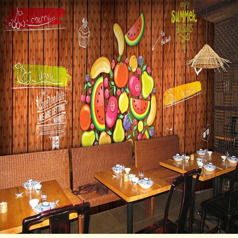 wallpaper 3d fresh creative hand painted cartoon fruit