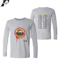 LUCKYFRIDAYF Guns And Roses Punk Music Shirt Spring Fashion Design T-shirt Soft Cotton XXS-4XL Women Tshirt Long Sleeve Casual