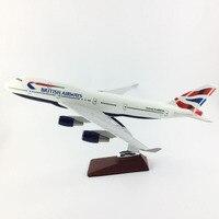 FREE SHIPPING 45 47CM 747 BRITISH AIRWAYS MODEL PLANE AIRCRAFT MODEL TOY AIRPLANE BIRTHDAY GIFT