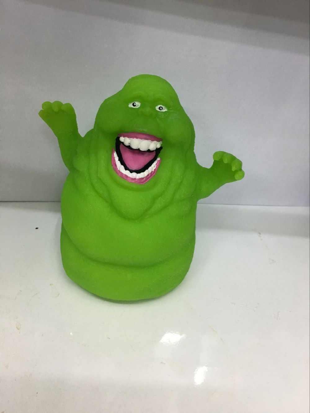 1 pcs 11 CENTÍMETROS pacote opp Slimer Ghostbusters fantasma verde Dos Desenhos Animados Anime figura de ação PVC boneca modelo de parede copo BB bater Brinquedos d10