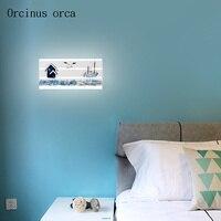 Средиземноморская креативная Лодка Якорь настенный светильник детская комната для мальчиков и девочек спальня Декоративный термометр пер