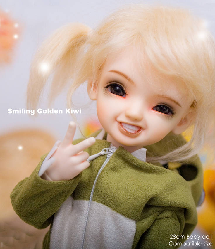 Smiling doll 1/6 girl Guo / Cherry / Kiwi beautiful resin action figures hot bjd free shipping-in Dolls from Toys & Hobbies    3