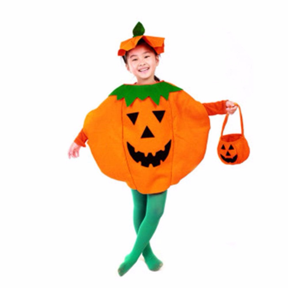 Popular Sale Halloween Decoration Clothes Costumes Pumpkin Halloween Children Outfit Clothes For Children Kids Vicky 1