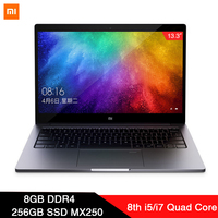2019 Xiaomi Mi Ultra thin Laptop Air 13.3 GeForce MX250 256G SSD Intel 8th Quad Core i5/i7 8GB Fingerprint Recognition PC