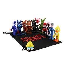 13 pçs/lote 9cm FNAF PVC Figuras de Ação com Presente Saco das Cinco Noites No Freddy Freddy Fazbear Foxy Bonecas Brinquedos brinqudoes Presentes Dos Miúdos
