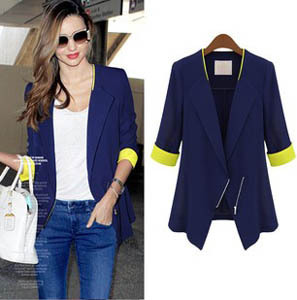 New European And American 2013 Autumn Fashion Designer Ladies Suit Blazers Hot-selling Slim Women's Suit Jacket S,M,L,XL
