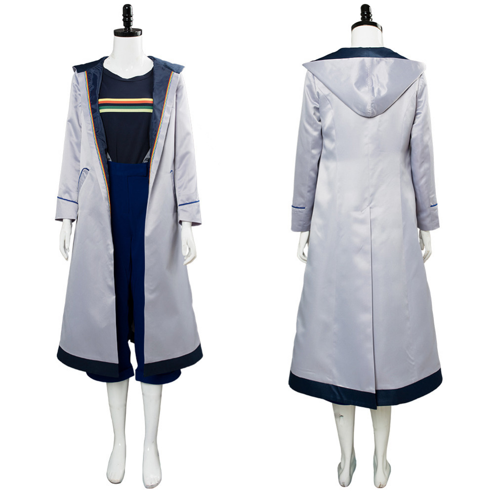 Doctor Who Cosplay Costume Jodie Whittaker Outfit Coat Outwear 13th Girls Women Costume Hallowwen Costume Tailor Made