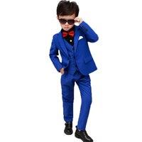 Spring Kids Boy Suit Gentleman Boys Suits Formal 3Pcs ( Blazers + Vest + Pants ) Children's Wedding Clothes Children Suit
