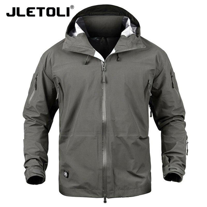 JLETOLI veste imperméable coupe-vent hiver veste de randonnée en plein air hommes femmes manteau coupe-vent coquille dure veste tactiques vêtements