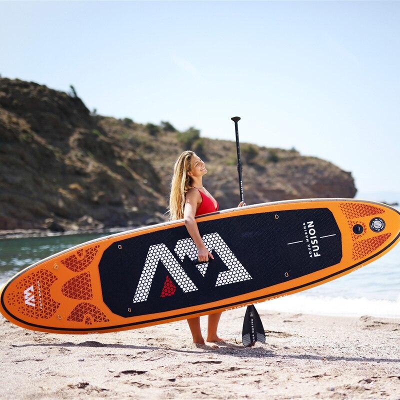 315*75*15 centímetros prancha inflável FUSION 2019 desportos aquáticos sup stand up paddle surf board AQUA MARINA bordo ISUP B01004