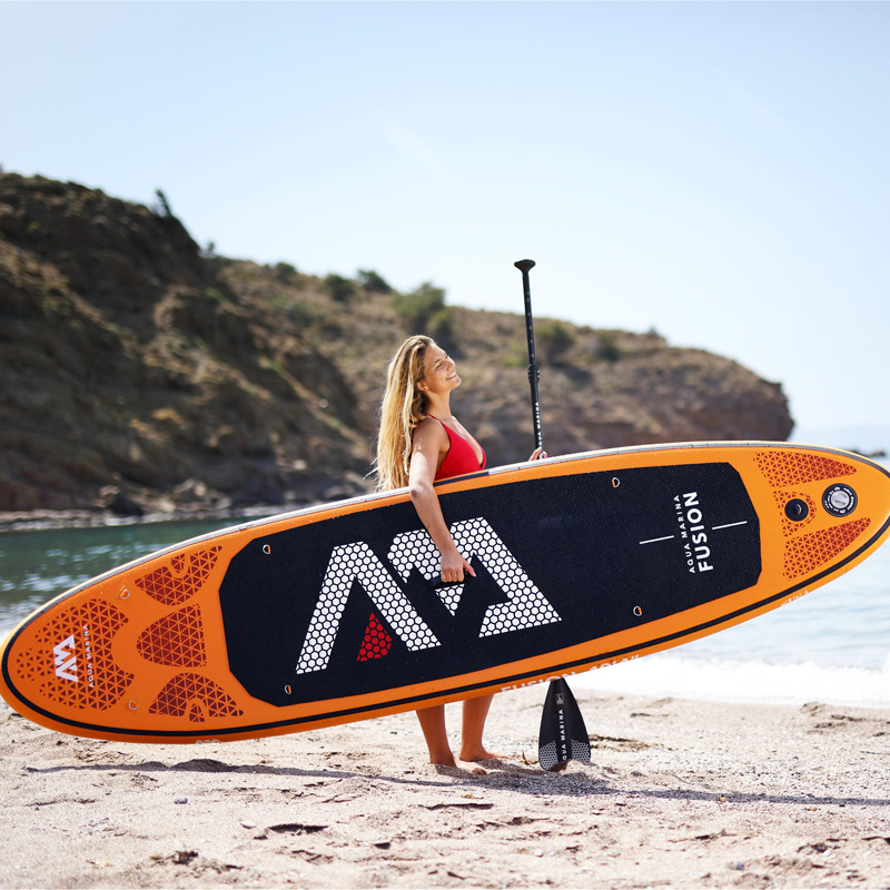 315*75*15cm inflatable surfboard FUSION 2019 stand up paddle surfing board AQUA MARINA water sport sup board ISUP B01004-in Surfing from Sports & Entertainment