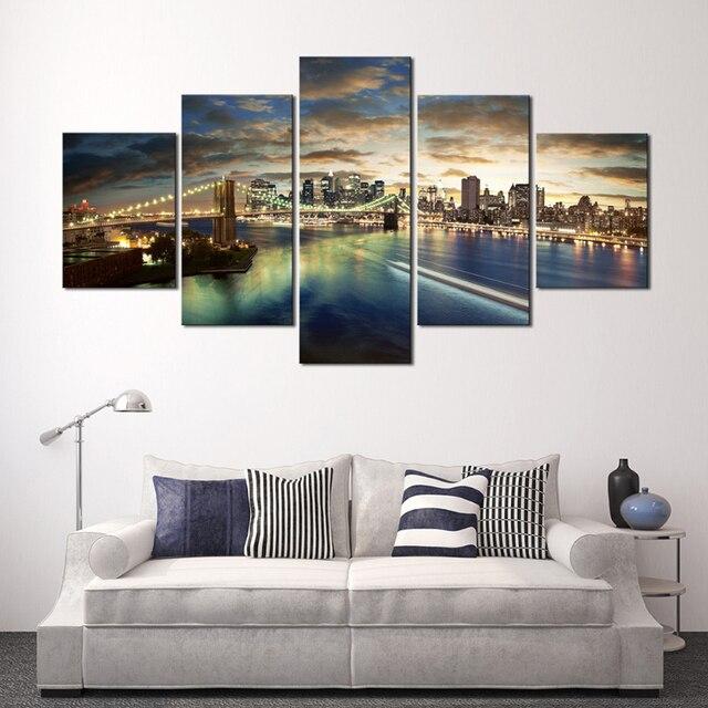 moderno hogar de la pared cuadros para la sala de la lona aceite modular pintura
