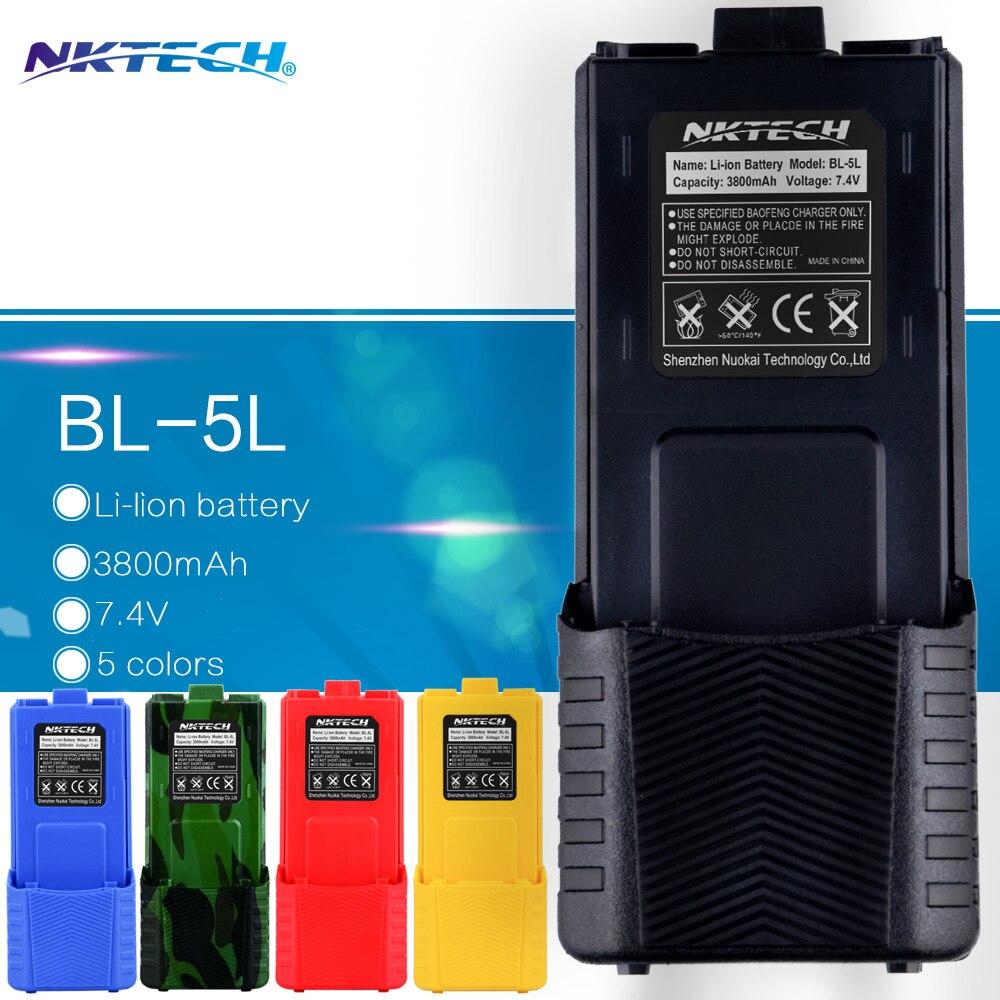 bilder für Nktech 7,4 v große 3800 mah batterie für baofeng uv-5r batterie für radio walkie talkie teile original bao feng 3800 mah uv 5r uv5r
