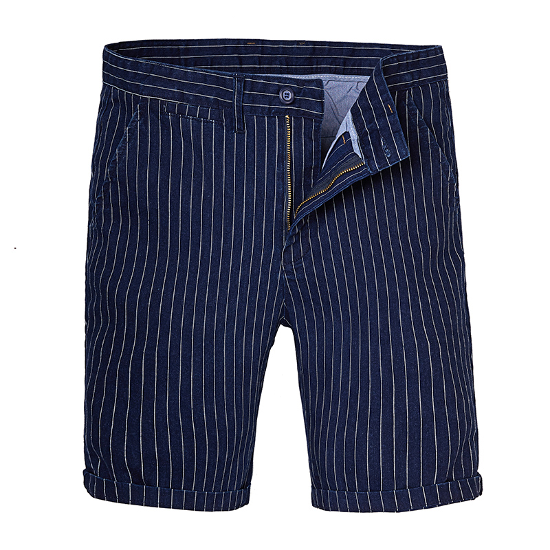 Plus size 6XL 5XL men casual shorts knee length pants striped straight button fly 2018 new summer big size 38-48 short pants