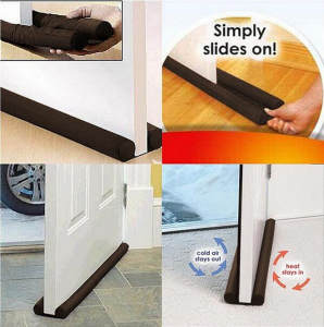 1Pcs New Hot 2020 Guard Stopper Twin Door Decor Protector Doorstop Draft Dodger Energy Saving Home