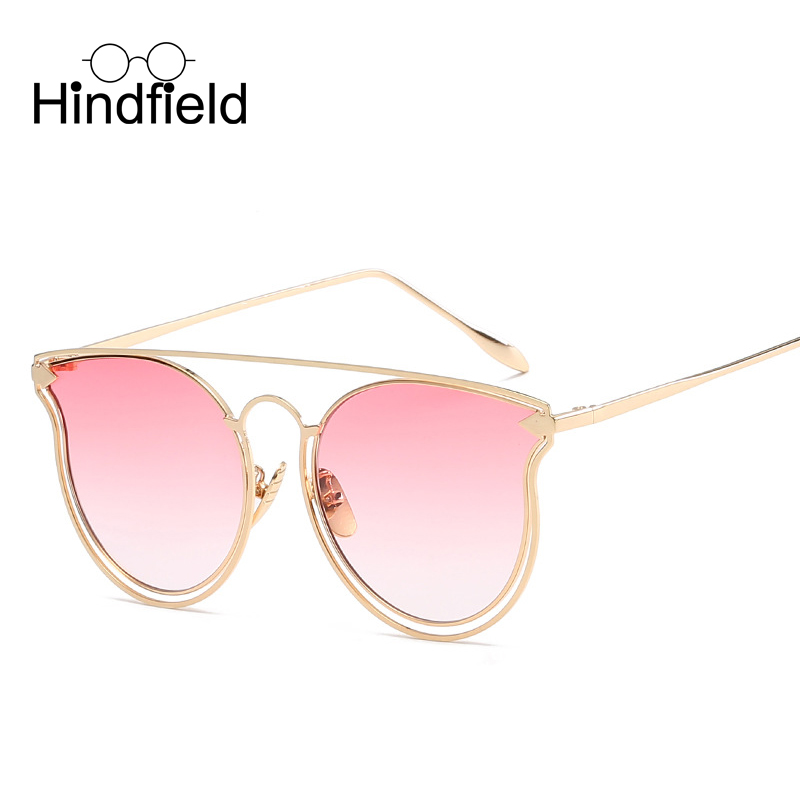 Hindfield Fashion Arrow Sunglasses Women Brand Designer Cat Eye Sun Glasses Vintage Shades font b Gafas
