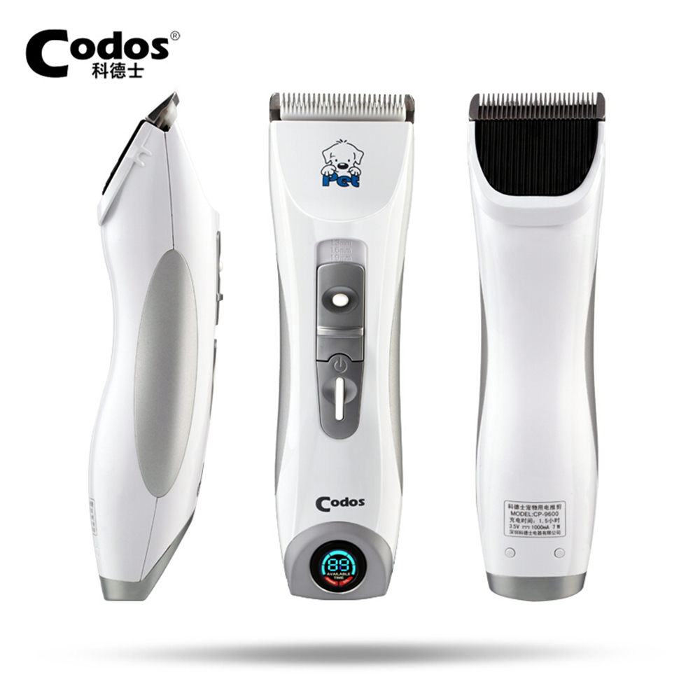 Codos CP 9600 Professional Pet Dog Hair Trimmer Electrical Grooming Clipper Rechargeable Cat Animals Haircut Machine LCD Display-in Dog Hair Trimmers from Home & Garden    1