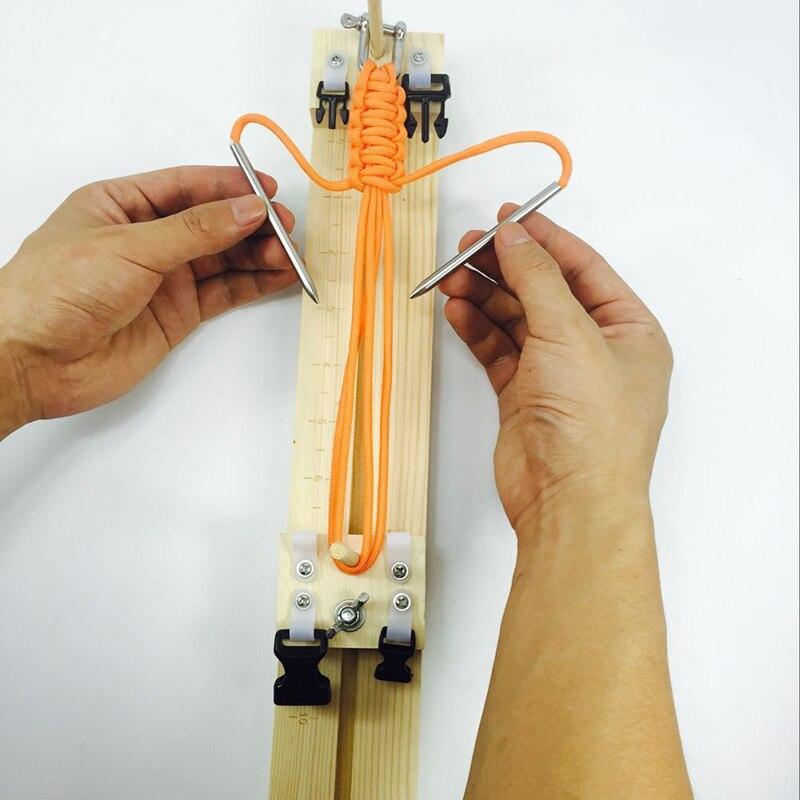 1PCS DIY jig solid wood paracord bracelet maker knitting tool Knot Braided Parachute cord Bracelet Weaving Tools Wristband Maker