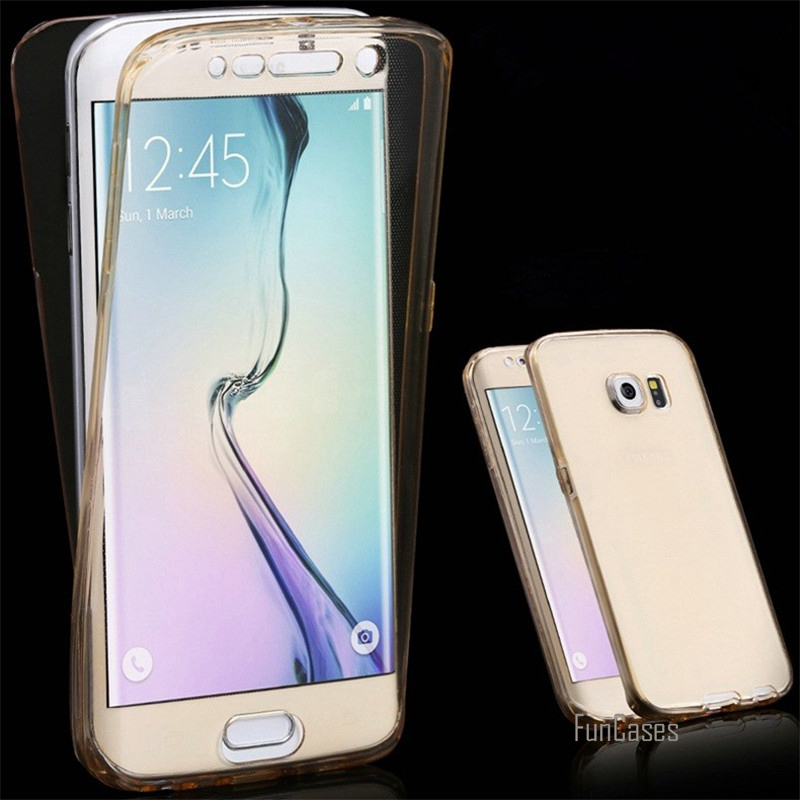 For Samsung Galaxy A3 A5 A7 2017 J5 J7 2016 J3 2015 G530 S5 4 S6 S7 S8 Case 360 Clear Silicone Cases TPU Full body Cover Protect
