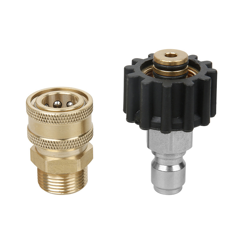 Pressure Washer Hose Adapter Quick Release Socket Coupling M22//14 to 1//4