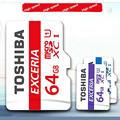 Free shipping Genuine TOSHIBA MicroSD 64GB Memory card SDHC Class 10 U1 Micro SD Tf  For phones tablet navigator DVR + Package