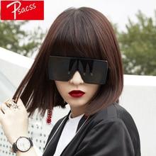 Psacss New Vintage Square Sunglasses Women Men Oversized Fashion Brand Designer Womens Sun Glasses Mirror gafas de sol UV400