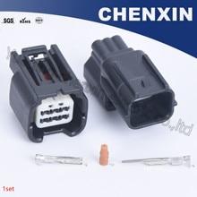 Enchufe de conector de carcasa impermeable sellado macho y hembra de 6 pines 0,6, enchufe de conector automático para coche, 7282 2764 30 7283 2764 30