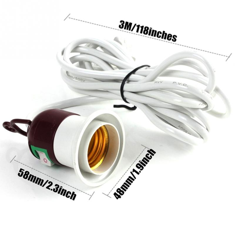 все цены на High Quality AC 250V 10A On off Switch E27 Lamp Holder Socket light 2.5m Power Cable Cord US plug онлайн