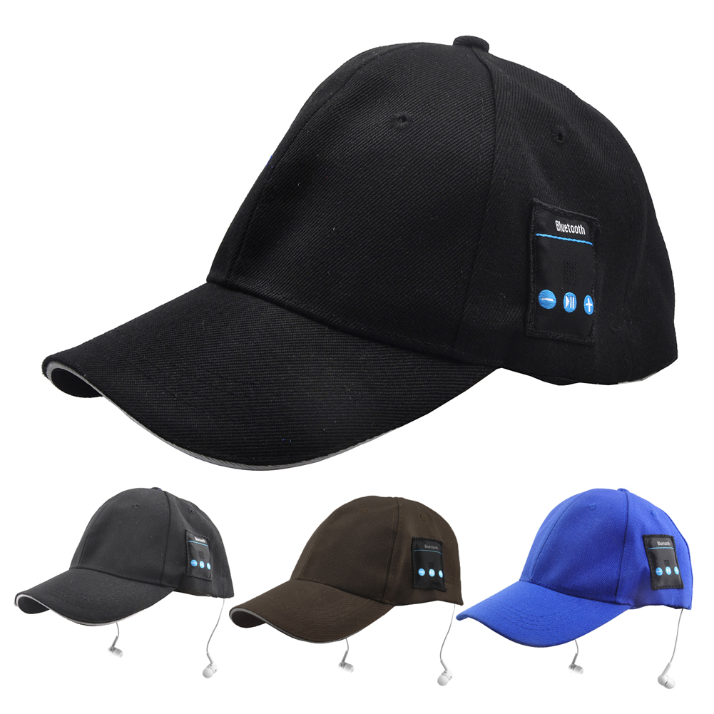 Black/Coffee/Blue Summer Unisex Bluetooth Earphone Headset Hat Cap Sport Cap Music Baseball Cap with MIC for Mobile/Sport warm bluetooth hat knitted winter beanie hats music upgrade bluetooth 4 0 speaker sport women men bluetooth headset christmas