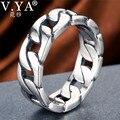 V.YA, 100% 925 пробы, серебряное кольцо, панк кольцо, цикл, цепь, кольца для мужчин, ювелирные украшения, большой размер, кольцо для пары, мужское ювелирное изделие - фото