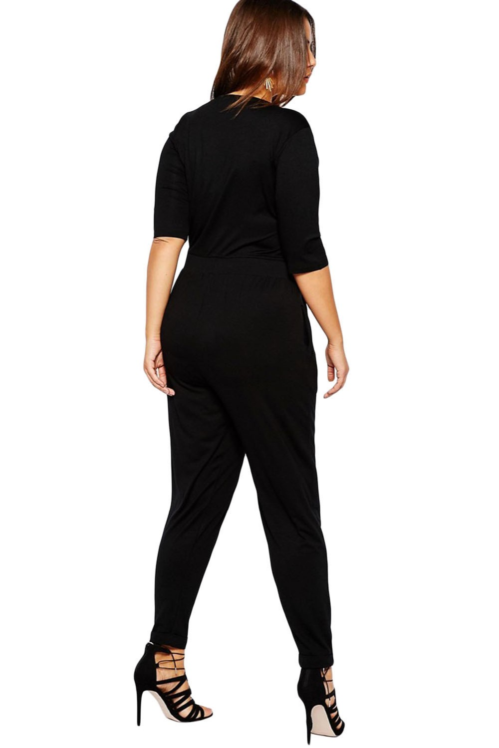 Black-Plus-Size-Wrap-V-Neck-Jumpsuit-LC64206-2-4