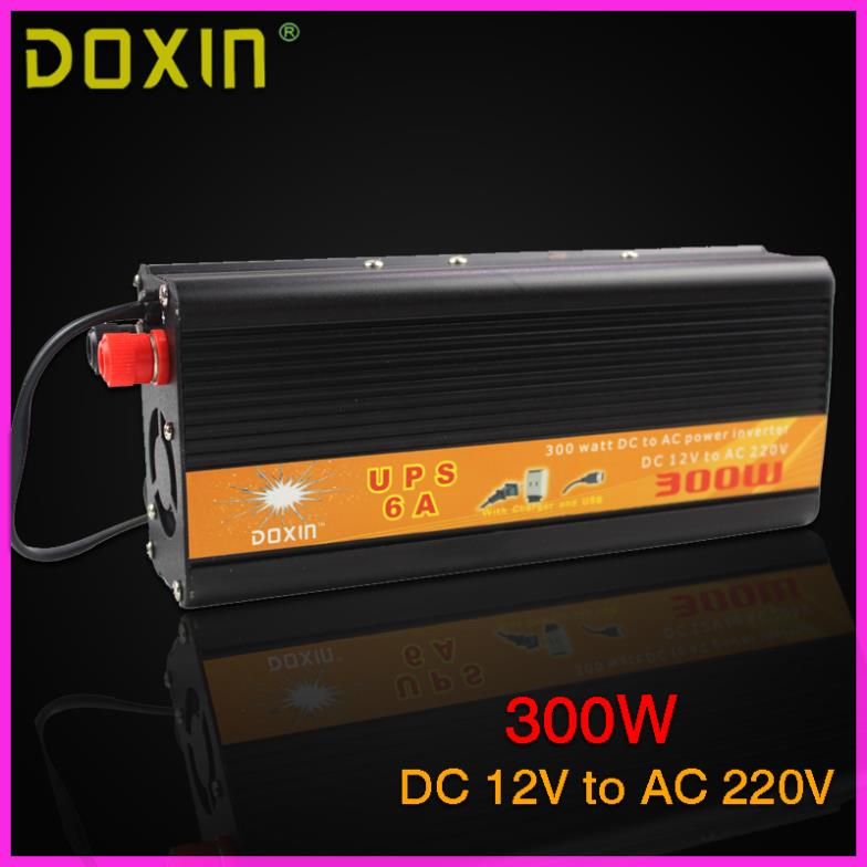 UPS DC To AC 12V 220V Car Power Inverter 300W Universal Uninterrupted Power Supply Auto Charge