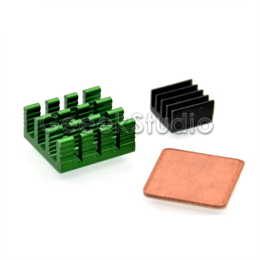 1 Set Of 3PCS Aluminum & Copper Heat Sinks Cooling Sinks For Raspberry Pi 3 / 2 Model B