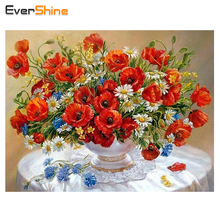 Diamond Painting Red Floral Room Decoration Needlework Crafts Gifts DIY Diamond Embroidery Paintings Beautiful Flowers Icon