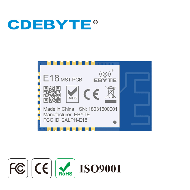 E18 MS1 PCB Zigbee IO CC2530 2.4Ghz 2.5mW PCB Antenna IoT uhf Mesh Network Wireless Transceiver Transmitter Receiver Module-in Fixed Wireless Terminals from Cellphones & Telecommunications